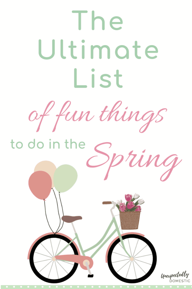 70 fun things to do in the spring! Add these spring activities and ideas to your spring bucket list. Free printable included!