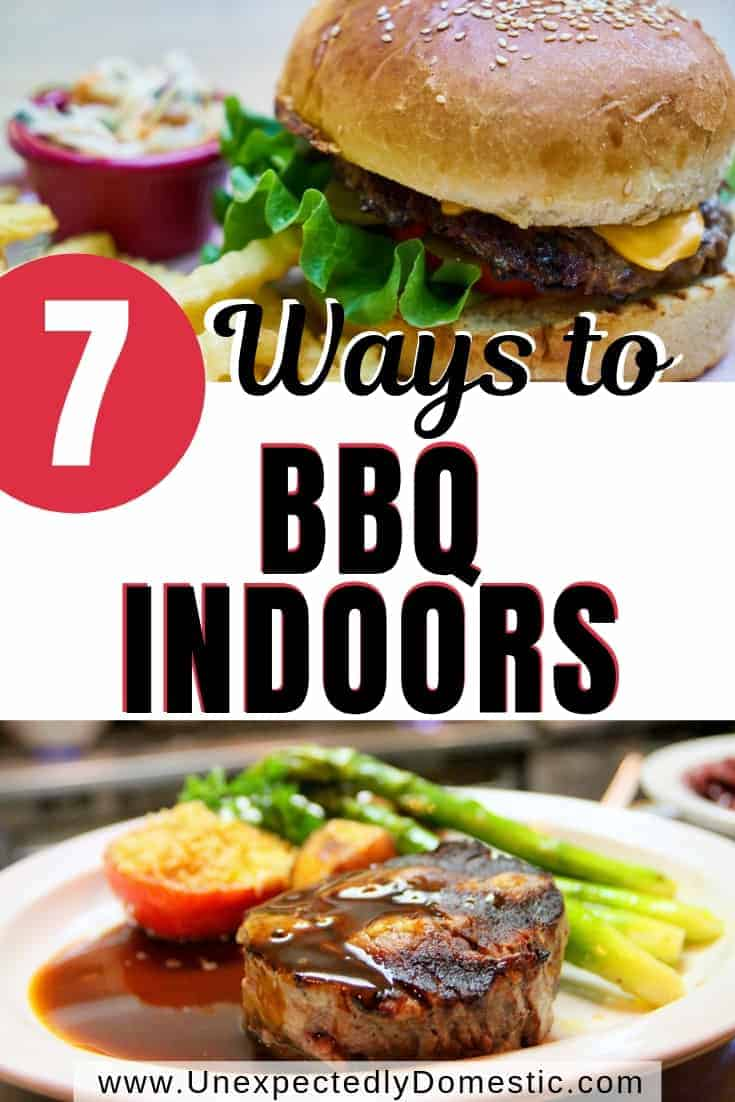 Want to have a cookout but don't have a grill? Here are 7 ways to BBQ indoors without a grill. Learn how to grill in the oven or on the stove!