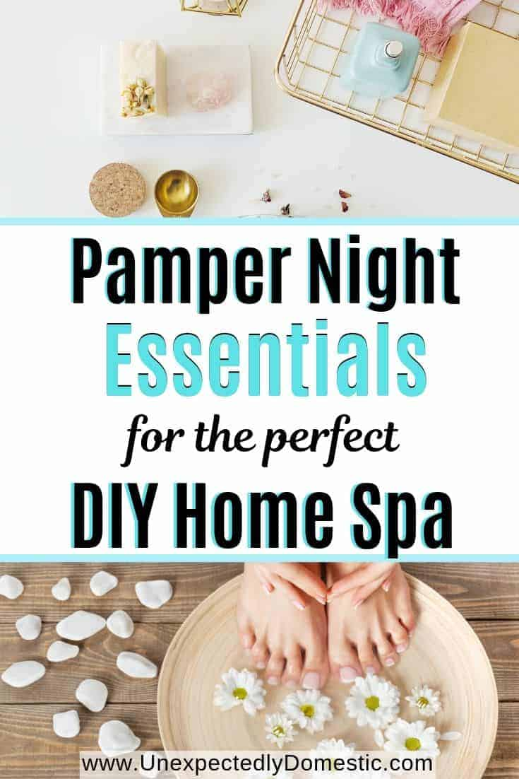 The perfect pamper night essentials for a spa night at home! The best home spa products and ideas for how to pamper yourself at home or with friends.