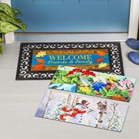 Spring/Summer, Fall and Winter Switchable Doormat 4-Piece Set