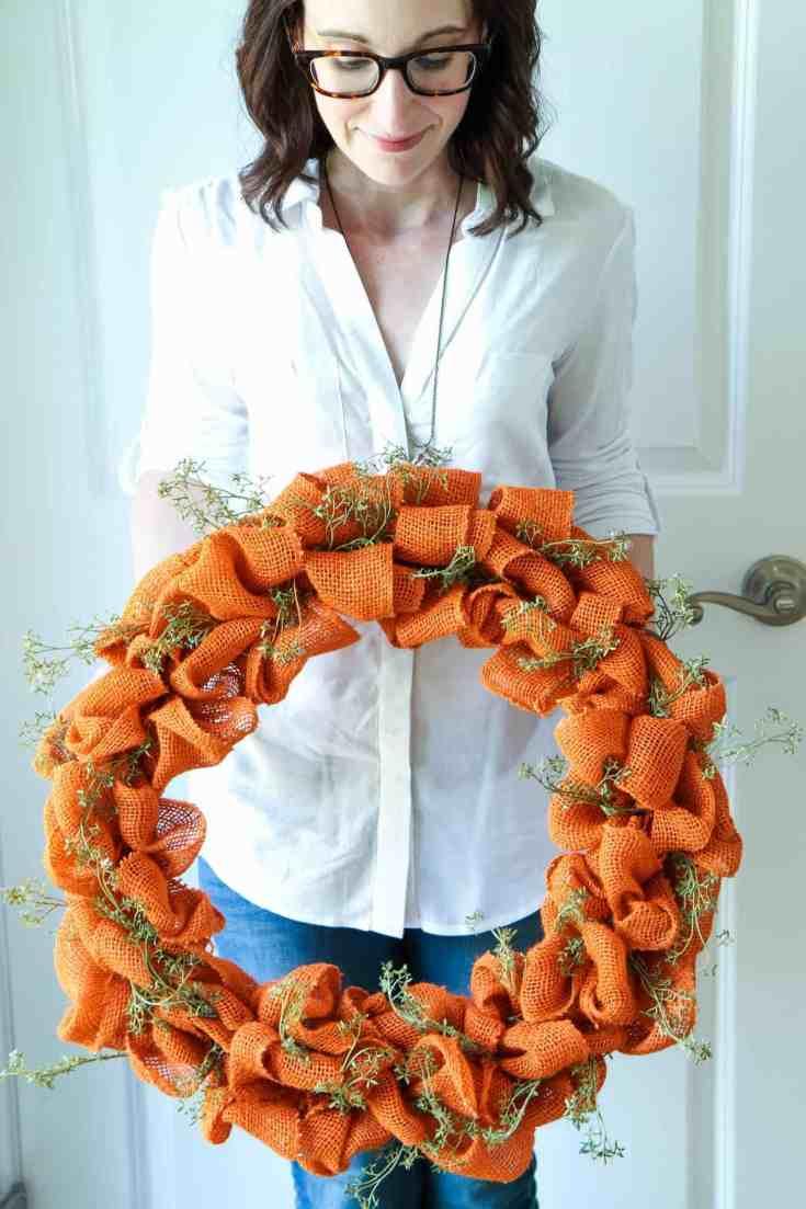 Handmade Autumn Burlap Wreath Tutorial