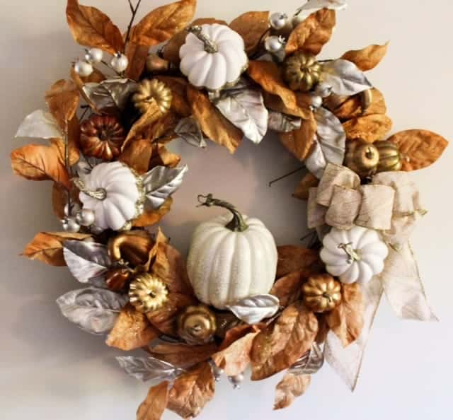 DIY Rustic Glam Fall Wreath