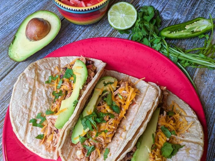 Slow Cooker Chicken Tacos (Clean Eating)
