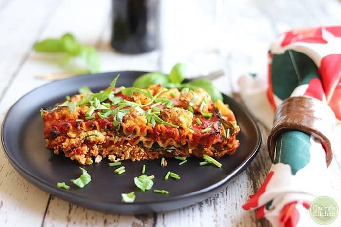 Vegan lasagna (in the air fryer!)