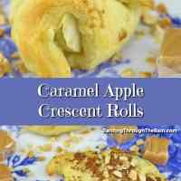 Caramel Apple Crescent Rolls