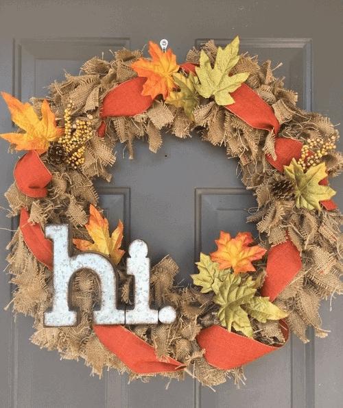 One Easy DIY Burlap Wreath