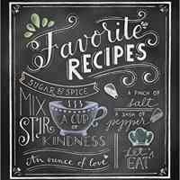 Chalkboard-Style Recipe Binder