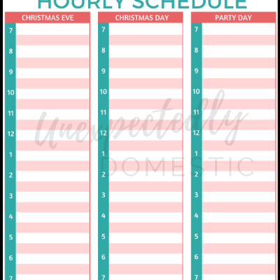 Christmas Day Planner Template – FREE Hourly Printable!