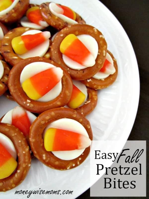Super Easy Halloween Pretzel Bites