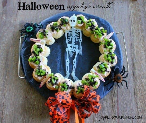 Halloween Appetizer Wreath