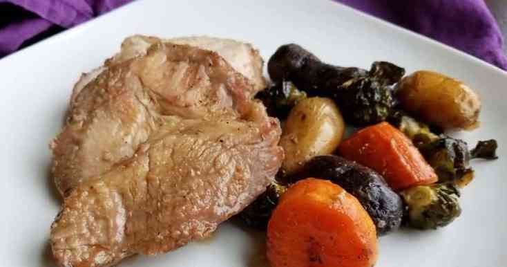 Brown Sugar Dijon Pork Roast and Vegetables