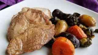 Brown Sugar Dijon Pork Roast and Vegetables
