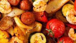 Chorizo and Prawns