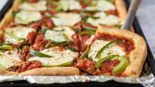 Sheet Pan Pizza (with delicious homemade dough)