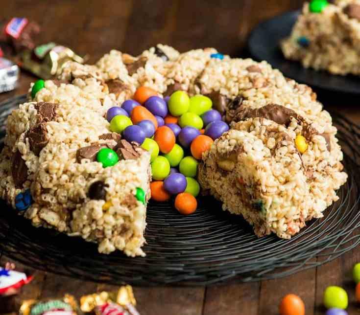 Candy-Stuffed Rice Crispy Cake Recipe