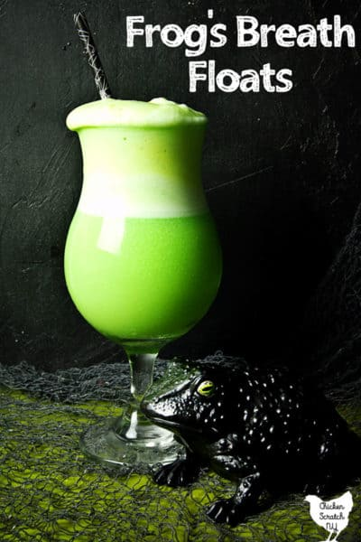 Frog's Breath Halloween Lime Sherbet Float