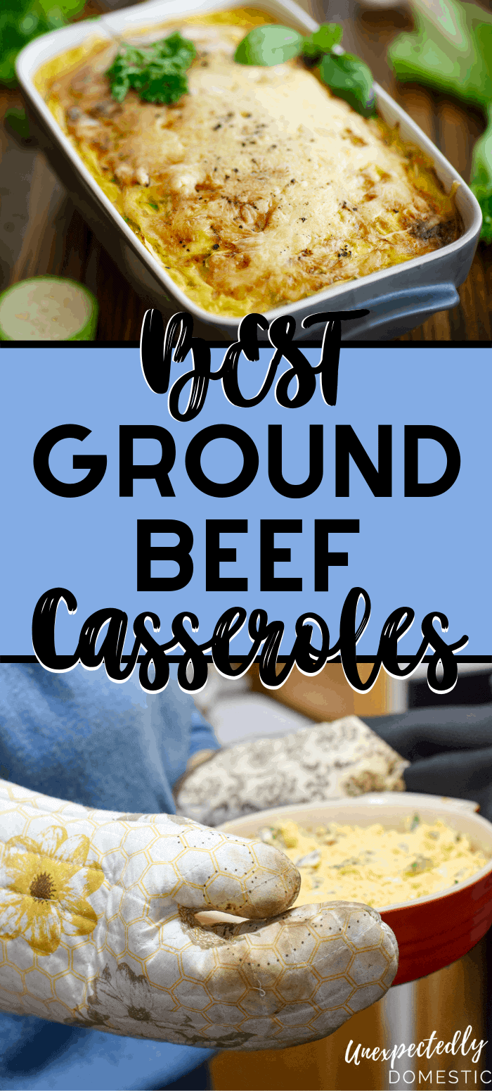 Check out the very best ground beef casseroles! These hamburger casserole recipes include rice, potatoes, noodles, and more. Delicious comfort food!