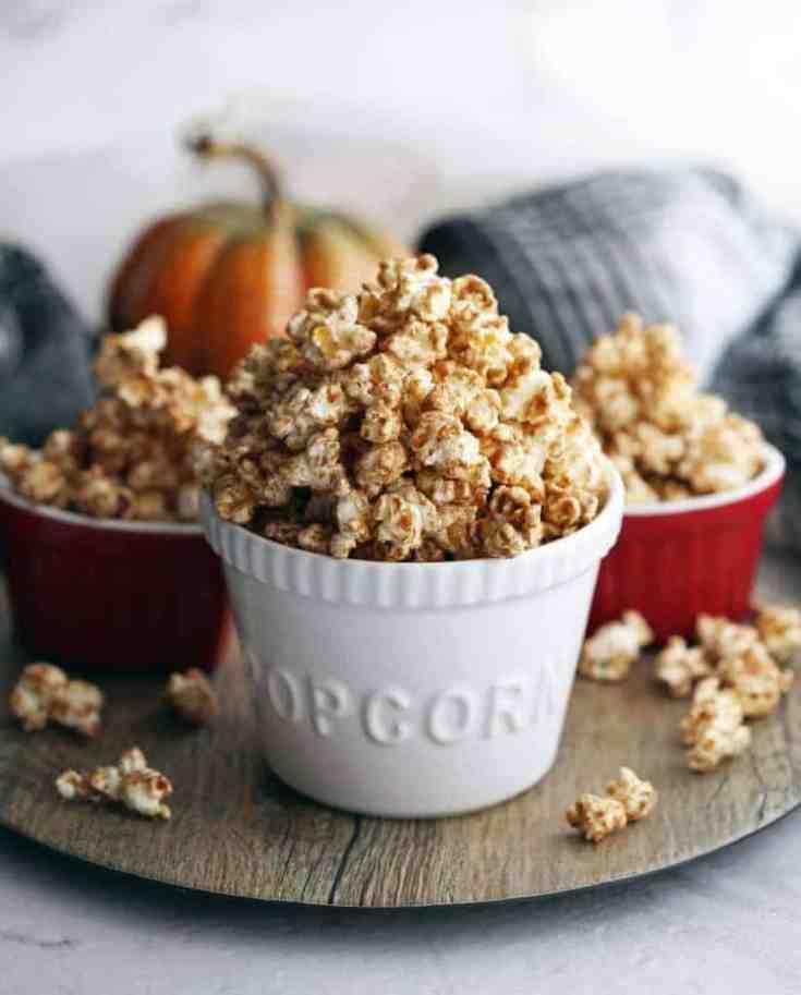 Homemade Pumpkin Spice Butterscotch Popcorn