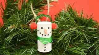 Easy Wine Cork Snowman Ornament