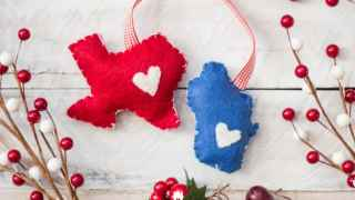 DIY Home State Felt Ornament
