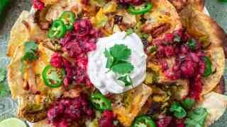 Thanksgiving Leftover Turkey Nachos