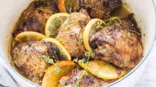 Spiced Lemon Crockpot Chicken Thighs
