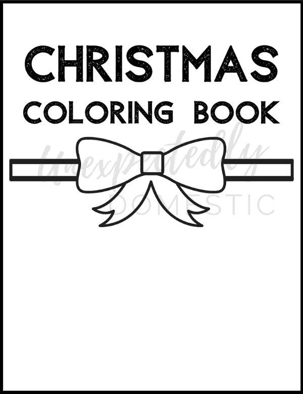 {Day 11} Cute Christmas Coloring Pages