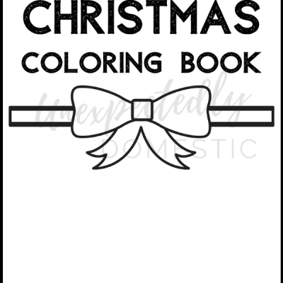 Cute Printable Christmas Coloring Pages