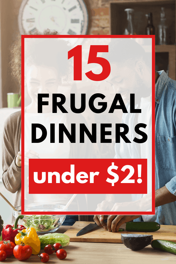 These $2 dinners are dirt cheap meals you can make on a tight budget. If you're trying to eat for $5 a day (or less!), you'll definitely need some meals under $2!