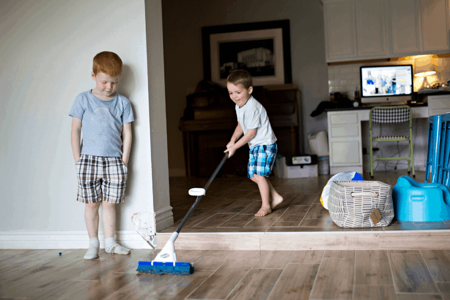 Age appropriate chores for kids that are both easy and fun! Chore list ideas that are easy enough for a child, and teach them skills they'll use for life.