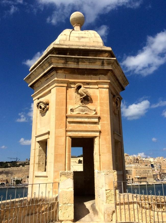 A photo of the Knights' Gardjola, up front - Senglea, Malta