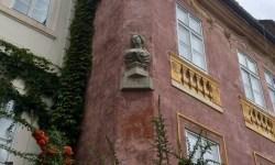 A photo of Luna at the Stone Column House - Prague, Czech Republic