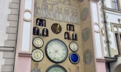 A photo of the Communist Astronomical Clock - Olomouc, Czechia