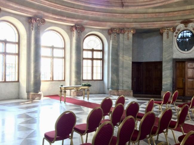 A photo of the first floor ballroom at Charles' Crown Castle - Chlumec nad Cidlinou, Czechia