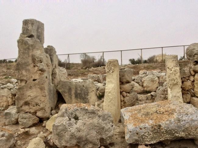 A photo of the ruins at Skorba Temples - Mgarr, Malta