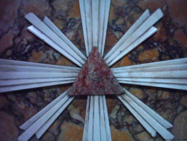 A close up photo of the all-seeing eye on an altar - Siggiewi, Malta