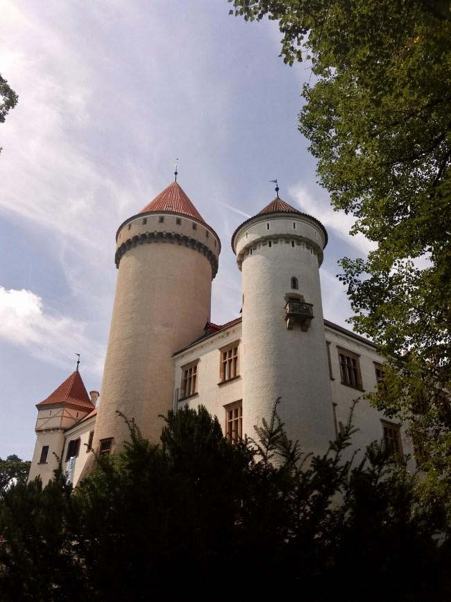 A photo of the castle as you approach - Konopiště, Czechia