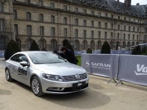 Valeo und Safran stellten in Paris die Ergebnisse ihrer Zusammenarbeit - hier: Automatisiertes Fahren - ausgewählten Fachjournalisten vor. Foto: Petra Grünendahl.