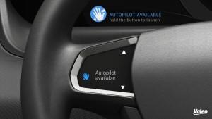 Autopilot available: Automatisiertes Fahren möglich. Foto: Valeo.