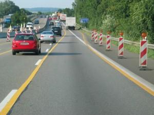 Autobahnbaustelle, Foto: Dekra.