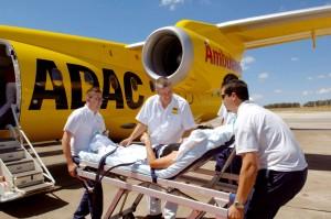 Krankenrückgransport. Foto: ADAC.