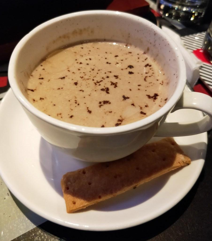 Truffle Scented Dark Chocolate Caramelized Cauliflower Veloute