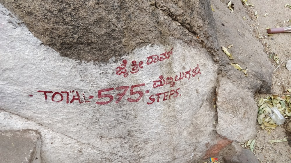 Total steps for Anjanadri Hill Betta