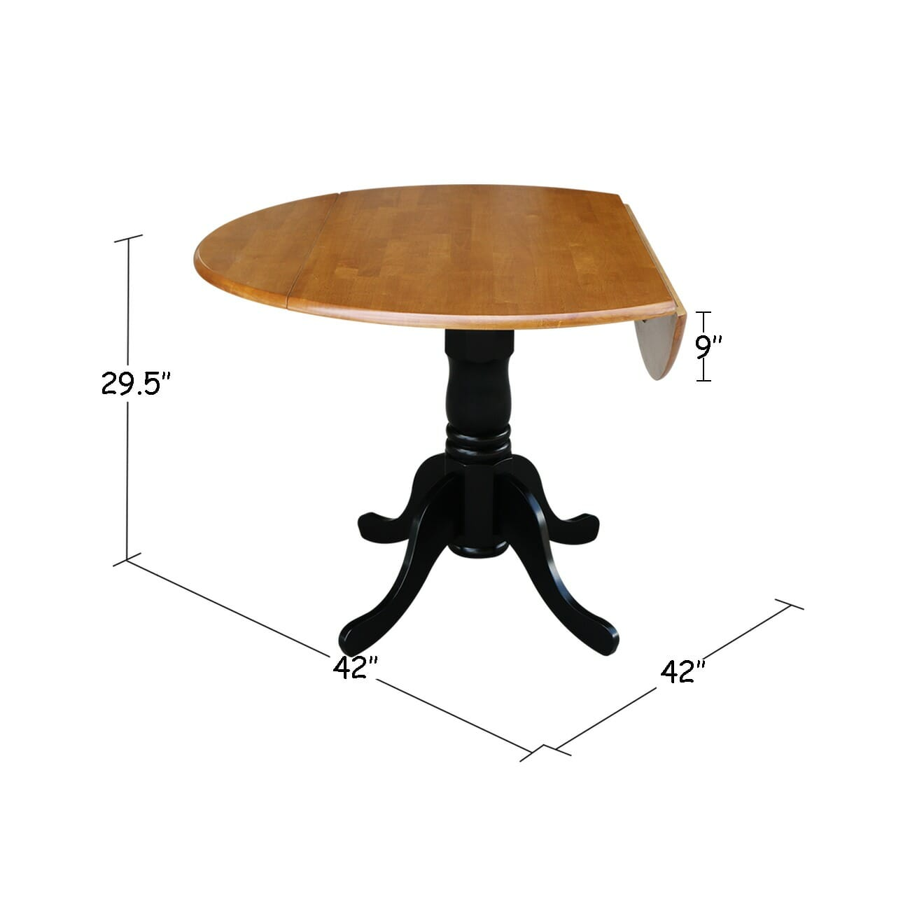 T 42dp 42 Quot Round Drop Leaf Table Unfinished Furniture Of