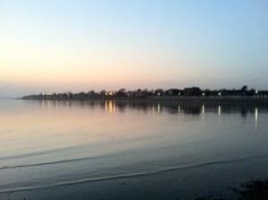 Mersea Island at sunset