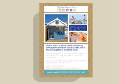 Walton Beach Huts Leaflet