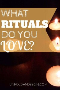 Rituals are usually associated with spiritual or religious ceremonies, but rituals are also a part of everyday life. What rituals do you love? #rituals #inspiration #superstitions #myrituals