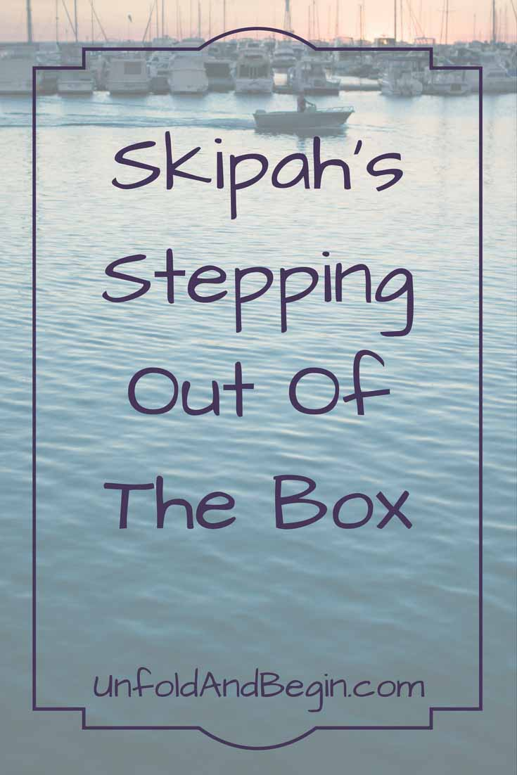 Enjoy this guest post from Gary at Skipah's Realm.  He shares how he's stepping out of the box to try new things.   Read it on UnfoldAndBegin.com