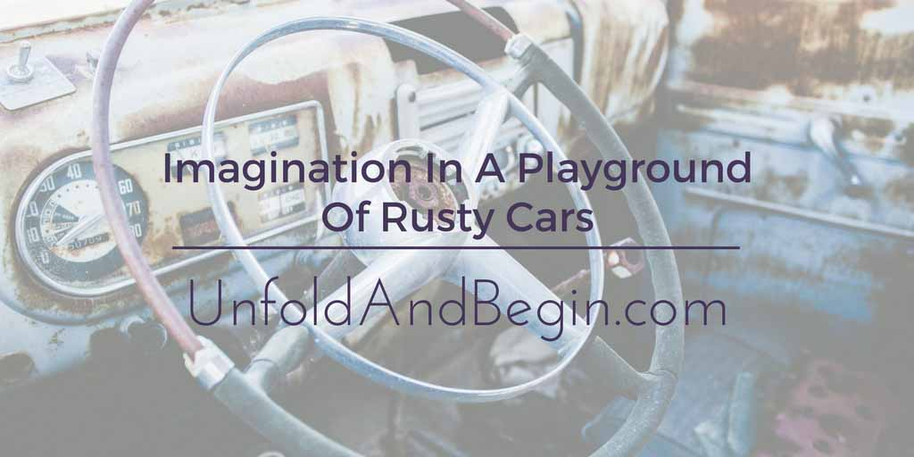 Imagination In A Playground Of Rusty Cars