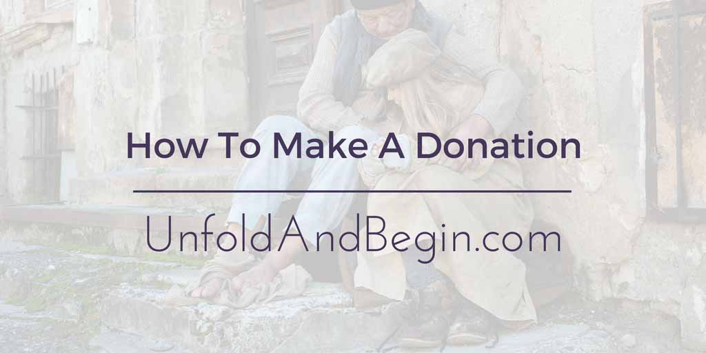 How To Make A Donation